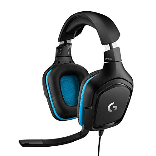 Logitech G432 Auriculares Gaming con Cable, Sonido 7.1...